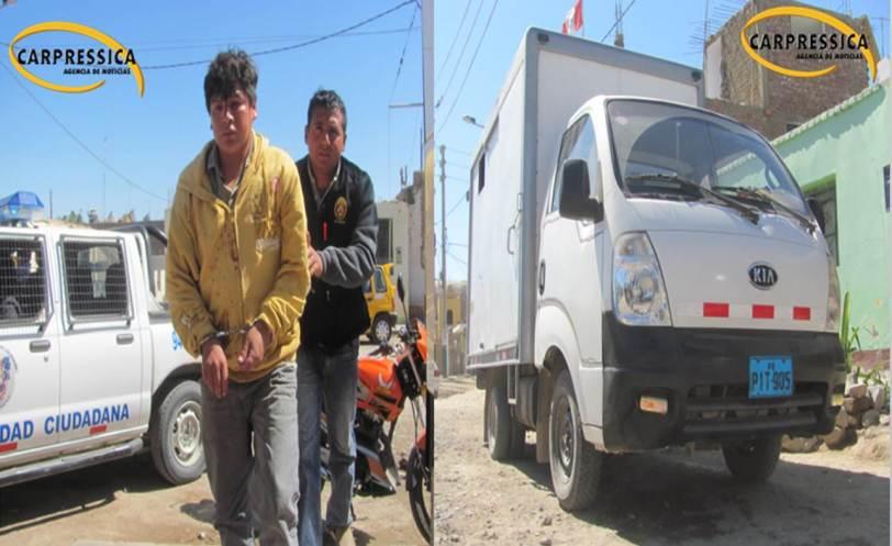 Trabajadores golpearon a un loquito por robar un camioncito municipal en Ica