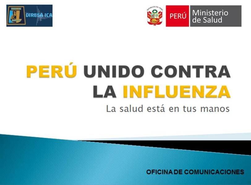 Perú unido contra la influenza, la salud está en tus manos