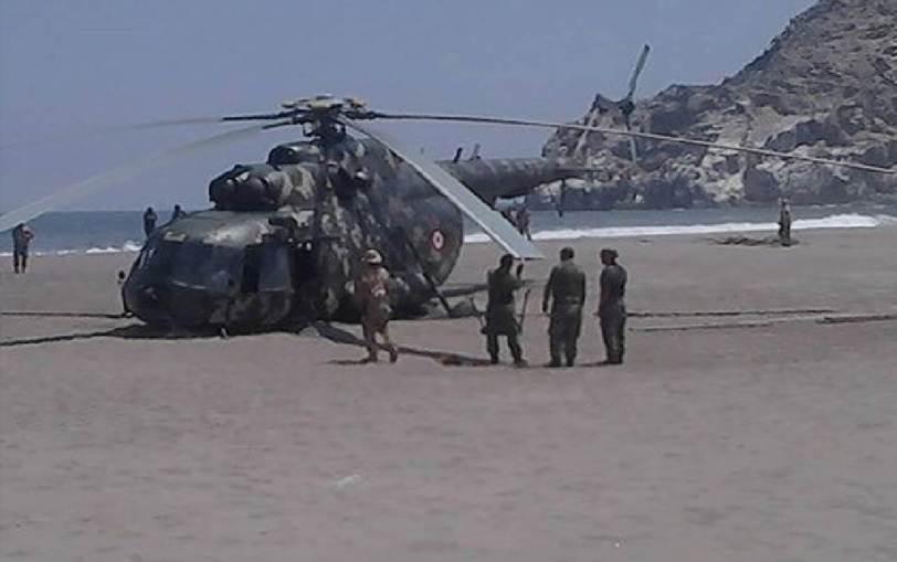 Arequipa: Helicóptero aterriza de emergencia en Ocoña